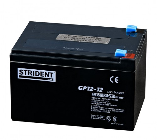 Strident 12v 12ah Battery - Mobility Batteries - Mobility Aids UK