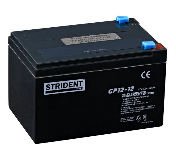 Strident 12v 14ah Battery – Mobility Batteries – Mobility Aids UK