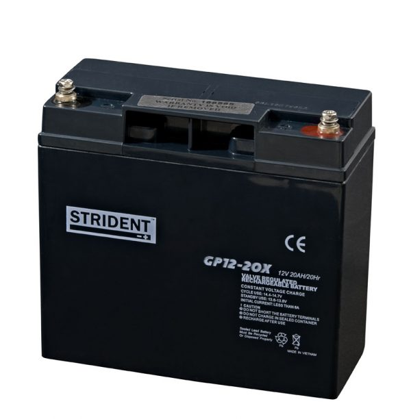 Strident 12v 20ah Battery – Mobility Batteries – Mobility Aids UK