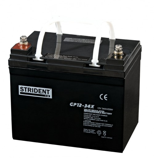 Strident 12v 34ah Battery - Mobility Batteries - Mobility Aids UK