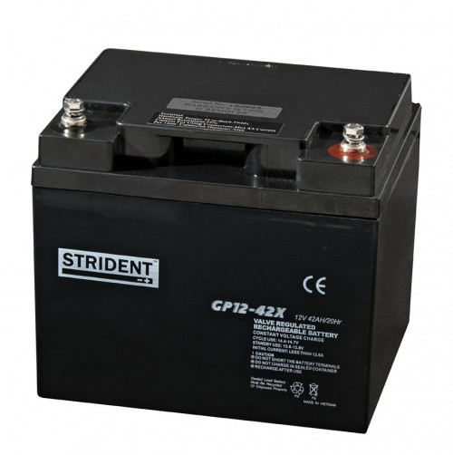 Strident 12v 42ah Battery - Mobility Batteries - Mobility Aids UK