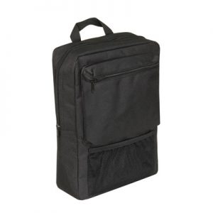 This Scooter Pannier Bag is black and compact. It is one of our smaller side bags and is perfect for personal possessions. This scooter bag attaches to the scooter via the arm rest.